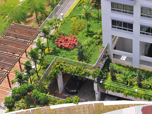 Garden And Landscape Pte : Treelodge punggol hdb multi storey car park elmich pte ltd