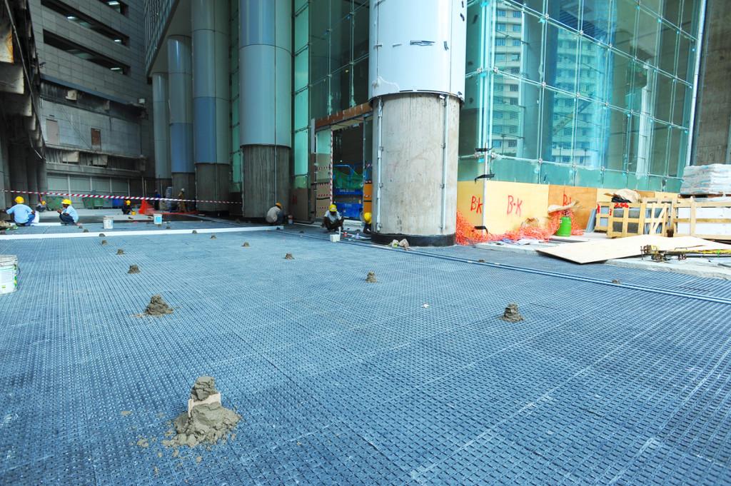 waterproofing - versidrain 6p - ocean financial centre