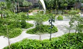 Waterproofed Landscape Plaza