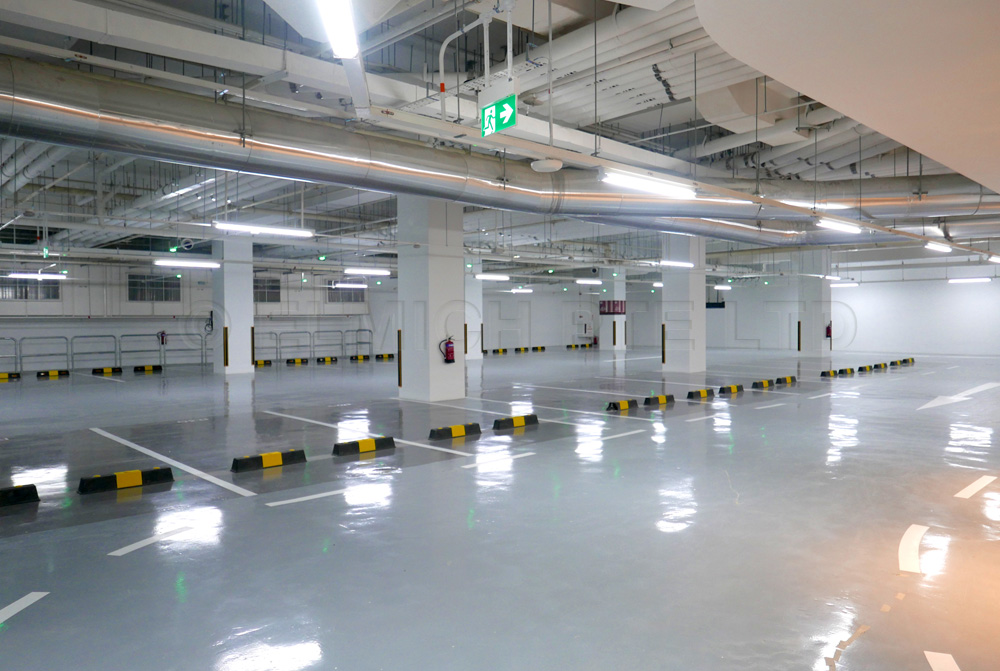 Basement carparks' walls and floors are waterproofed by Fleximent® 201 offers commercial parking lots and bicycle parking lots including an access way which directly connects to the Bugis MRT Station