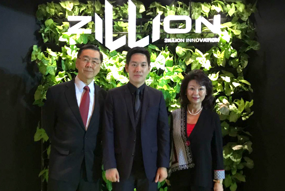 (From Left to Right) Mr Alan Lee, Executive Chairman, Elmich Pte Ltd; Mr Newin Chochaiyathip, Managing Director, Zillion Innovation Co.,Ltd.; Mrs Peggy Lee, HR & Finance Advisor, Elmich Pte Ltd