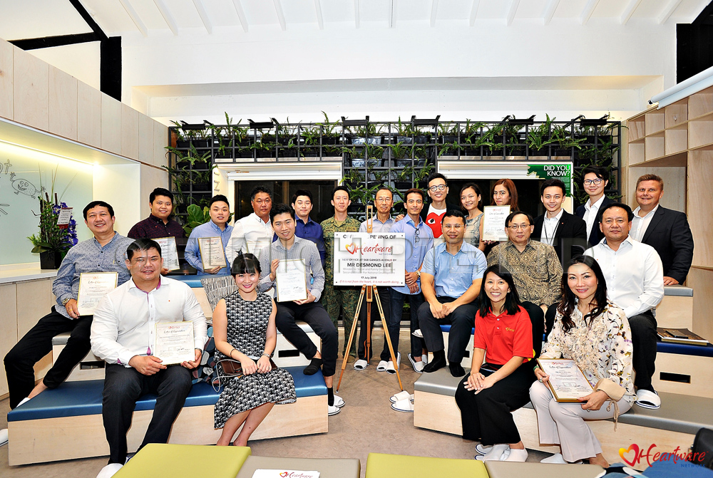 Group photo of all sponsors (Photo from Heartware Network)