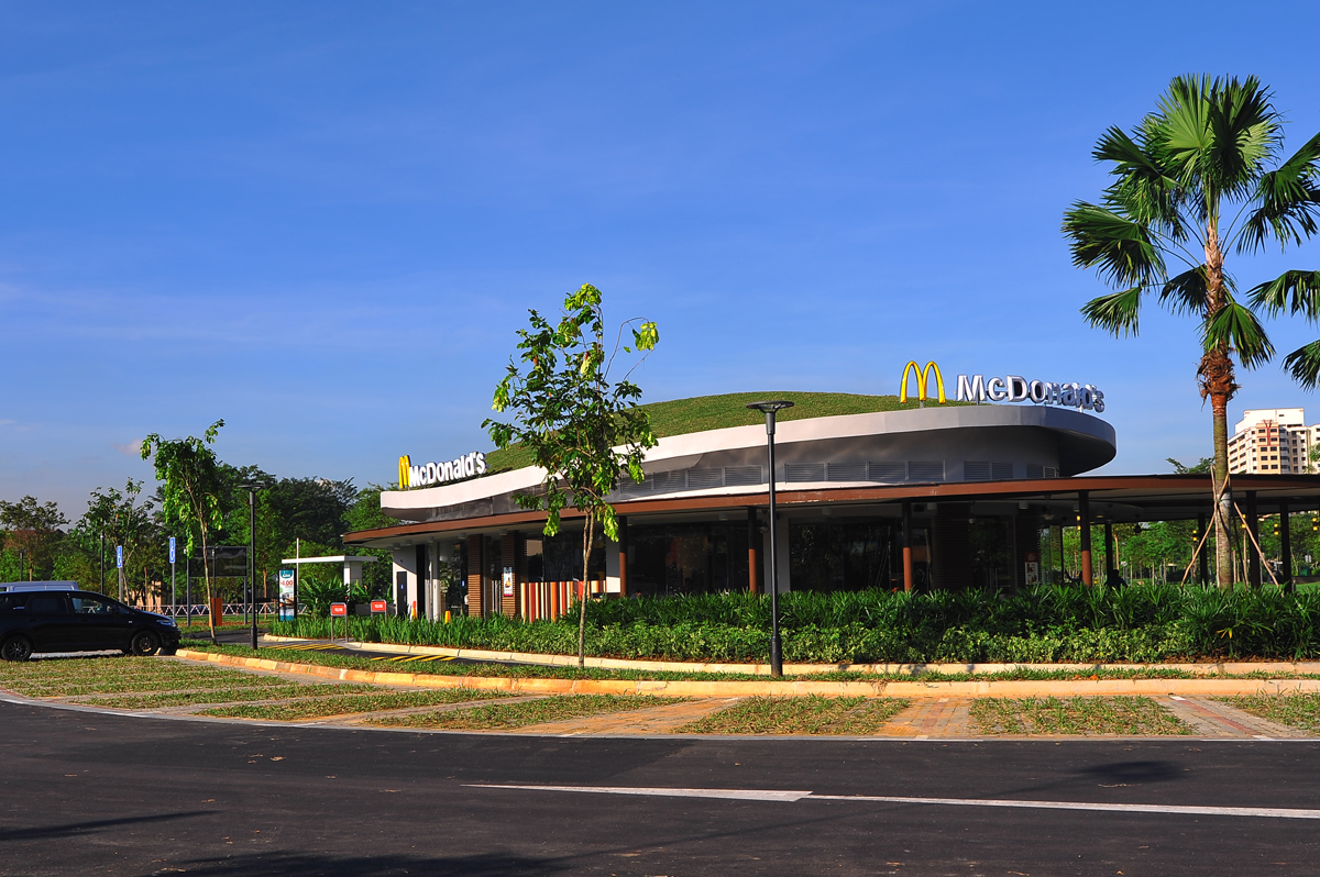 Mcdonald S First Ever Green Restaurant In Singapore
