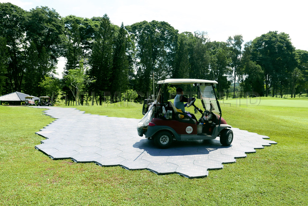 Vehicular pathway assembled from modular TrackGard® System